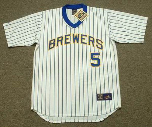 BJ Surhoff 1987 Milwaukee Brewers Cooperstown Home MLB Throwback Baseball Jerseys - FRONT
