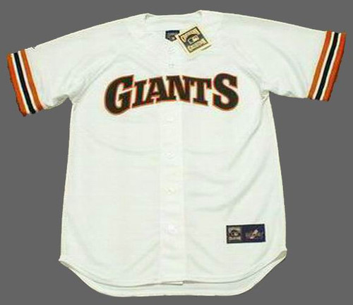 BARRY BONDS San Francisco Giants 1993 Home Majestic Baseball Throwback Jersey - FRONT