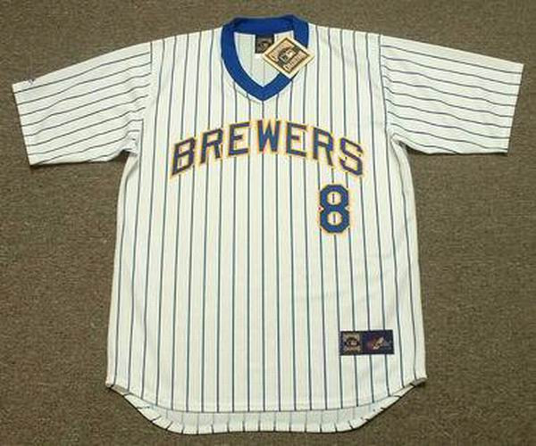 sports shoes 72985 2f2b8 RYAN BRAUN Milwaukee Brewers 1980's Majestic Cooperstown Throwback Home  Jersey