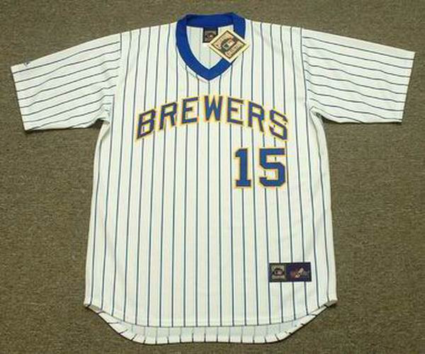 60179964f CECIL COOPER Milwaukee Brewers 1982 Majestic Cooperstown Throwback Home  Jersey - Custom Throwback Jerseys