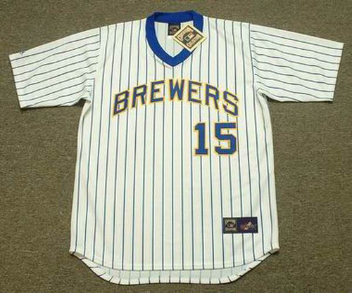 Cecil Cooper 1982 Milwaukee Brewers Cooperstown Retro Home MLB Throwback Baseball Jerseys - FRONT