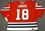 DENIS SAVARD Chicago Blackhawks 1986 CCM Throwback Away Hockey Jersey - Thumbnail