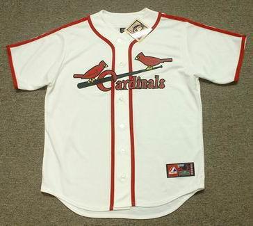 6bed98a2 JOE GARAGIOLA St. Louis Cardinals 1940's Majestic Cooperstown Throwback  Baseball Jersey