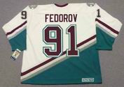 SERGEI FEDOROV Anaheim Mighty Ducks 2005 Away CCM NHL Vintage Throwback Jersey - BACK