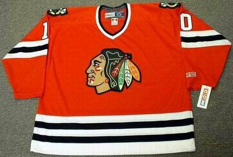 DENNIS HULL Chicago Blackhawks 1972 CCM Throwback NHL Hockey Jersey - FRONT