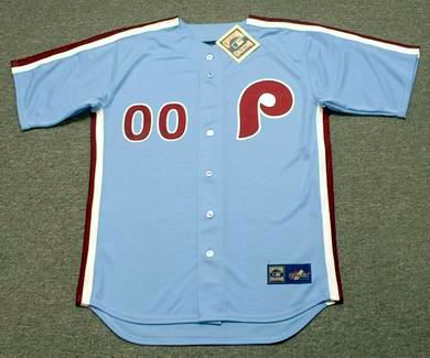 wholesale dealer dc501 ec50d PHILADELPHIA PHILLIES 1980's Majestic Cooperstown Throwback Away Jersey  Customized