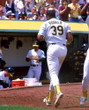 DAVE PARKER Oakland Athletics 1989 Home Majestic Baseball Throwback Jersey - ACTION