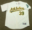 DAVE PARKER Oakland Athletics 1989 Home Majestic Baseball Throwback Jersey - FRONT