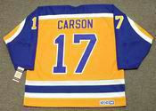 JIMMY CARSON Los Angeles Kings 1987 CCM Vintage Throwback NHL Hockey Jersey - BACK
