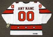 "NHL 1970's ""All Star"" CCM Throwback White Jersey Customized ""Any Name & Number(s)"""