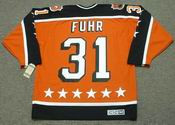 "GRANT FUHR 1984 Campbell ""All Star"" CCM Vintage Throwback NHL Hockey Jersey"