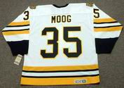 ANDY MOOG 1990 Home CCM NHL Throwback Boston Bruins Jerseys - BACK