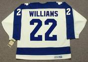 TIGER WILLIAMS Toronto Maple Leafs 1978 Home CCM Throwback Hockey Jersey - BACK