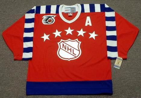 Brett Hull 1992 Campbell All Star CCM Vintage Throwback Hockey Jersey - FRONT