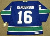 DEREK SANDERSON Vancouver Canucks 1976 CCM Vintage Throwback Hockey Jersey