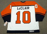 JOHN LeCLAIR Philadelphia Flyers 1998 CCM Throwback Home NHL Hockey Jersey - Back