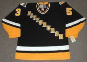 TOM BARRASSO Pittsburgh Penguins 1996 CCM Vintage Throwback Away Hockey Jersey