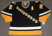 RICK TOCCHET  Pittsburgh Penguins 1993 CCM Vintage Throwback Away Hockey Jersey
