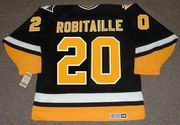 LUC ROBITAILLE Pittsburgh Penguins 1994 CCM Vintage Throwback Away Hockey Jersey