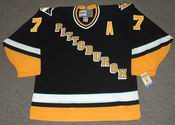 JOE MULLEN  Pittsburgh Penguins 1994 CCM Vintage Throwback Away Hockey Jersey