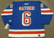 GLEN SATHER New York Rangers 1972 CCM Throwback Hockey Jersey