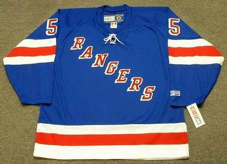 BERNARD GEOFFRION New York Rangers 1960's CCM Throwback NHL Hockey Jersey - Front