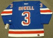 HARRY HOWELL New York Rangers 1960's CCM Throwback Hockey Jersey
