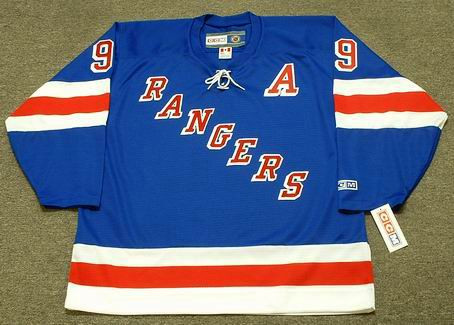 1999 New York Rangers Away CCM Throwback ADAM GRAVES NHL throwback jersey - FRONT