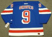 1999 New York Rangers Away CCM Throwback ADAM GRAVES NHL throwback jersey - BACK