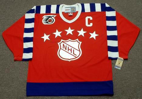 "WAYNE GRETZKY 1992 Campbell ""All Star"" CCM Vintage NHL Throwback Jersey - FRONT"
