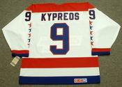 NICK KYPREOS Washington Capitals 1990 CCM Vintage Throwback Home NHL Jersey