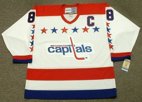 Alexander Ovechkin 1990's Washington Capitals NHL Throwback Away Jersey - FRONT