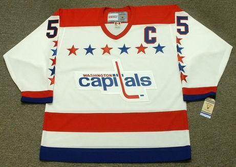 ROD LANGWAY Washington Capitals 1988 CCM Vintage Throwback Home NHL ... e40db010b