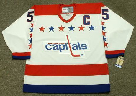 size 40 7c079 5a7ba ROD LANGWAY Washington Capitals 1988 CCM Vintage Throwback Home NHL Jersey