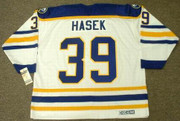 DOMINIK HASEK Buffalo Sabres 1994 Home CCM Vintage Throwback Hockey Jersey - BACK