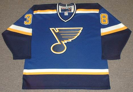 info for 38285 50800 PAVOL DEMITRA St. Louis Blues 1998 CCM Throwback NHL Jersey