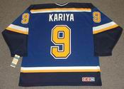 Paul Kariya 2007 St. Louis Blues Home CCM NHL Throwback Hockey Jersey - BACK