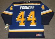 CHRIS PRONGER St. Louis Blues 2001 CCM Throwback Away NHL Hockey Jersey