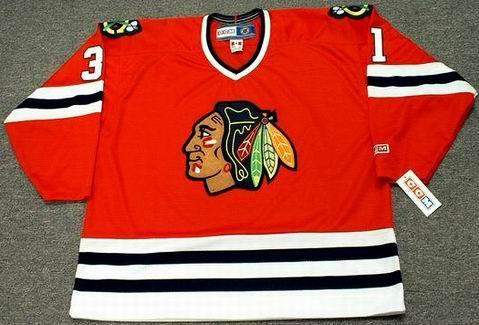 DOMINIK HASEK Chicago Blackhawks 1992 CCM Throwback Away Hockey Jersey - FRONT