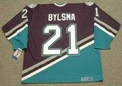 DAN BYLSMA Anaheim Mighty Ducks 2003 Away CCM NHL Vintage Throwback Jersey - BACK