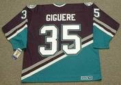 JEAN-SEBASTIEN GIGUERE Anaheim Mighty Ducks 2003 Away CCM NHL Vintage Throwback Jersey - BACK