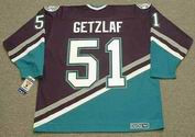 RYAN GETZLAF Anaheim Mighty Ducks 2005 Home CCM NHL Vintage Throwback Jersey - BACK