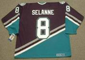 TEEMU SELANNE Anaheim Mighty Ducks 1997 Away CCM NHL Vintage Throwback Jersey - BACK