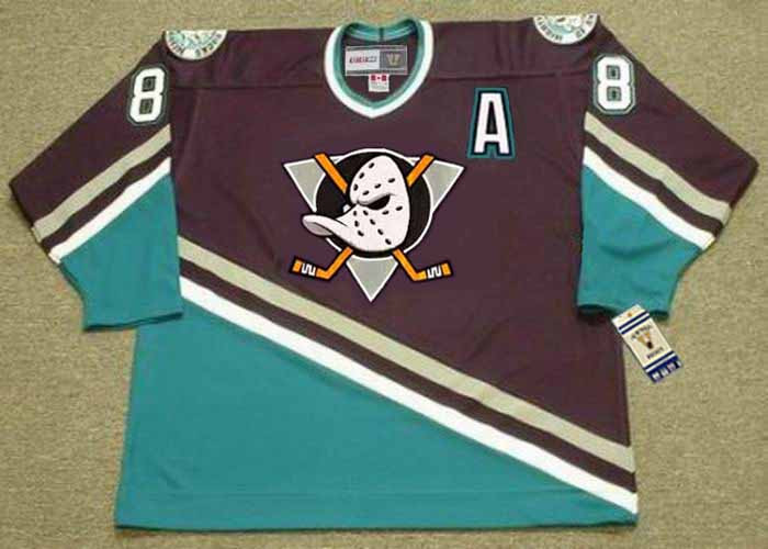 TEEMU SELANNE Anaheim Mighty Ducks 1997 Away CCM NHL Vintage Throwback  Jersey - BACK. See 3 more pictures f4c9cd36b