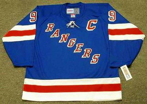 ANDY BATHGATE New York Rangers 1960's Home CCM Throwback NHL Hockey Jersey - BACK