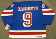 ANDY BATHGATE New York Rangers 1960's Home CCM Throwback NHL Hockey Jersey - BACK
