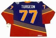 PIERRE TURGEON St. Louis Blues 1996 Away CCM NHL Vintage Throwback Jersey