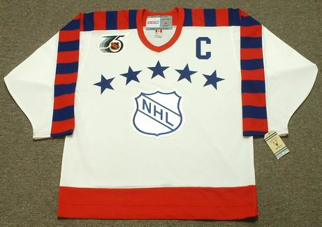 "MARIO LEMIEUX 1992 Wales ""All Star"" CCM Vintage NHL Throwback Jersey - FRONT"