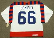 "MARIO LEMIEUX 1992 Wales ""All Star"" CCM Vintage NHL Throwback Jersey - BACK"