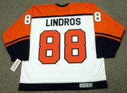 ERIC LINDROS Philadelphia Flyers 1999 CCM Throwback Home NHL Hockey Jersey - Back